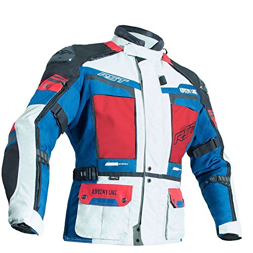 (RST Pro Ser 2850 Adventure III Ce Motorcycle Textile Jacket Ice/Blue Size EU46)