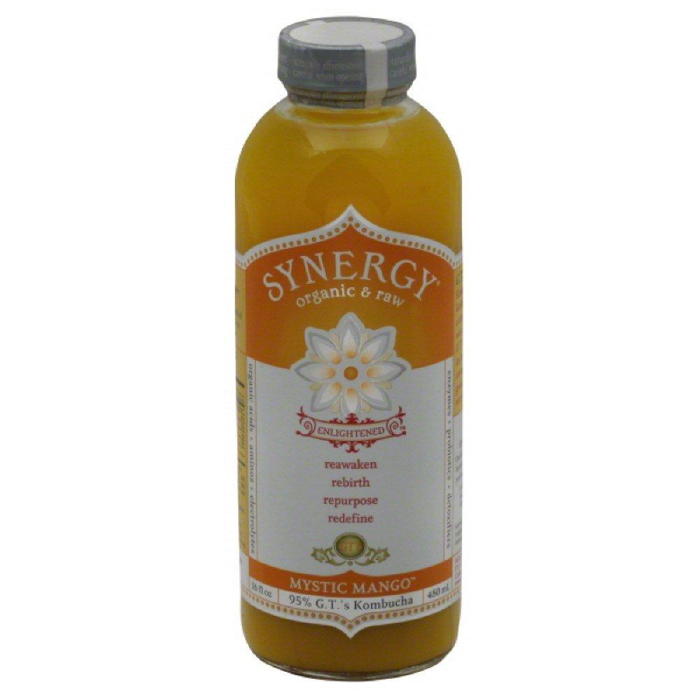 GTs Enlightened Synergy Organic and Raw Kombucha Mystic Mango, 16 Ounce -- 12 per case.