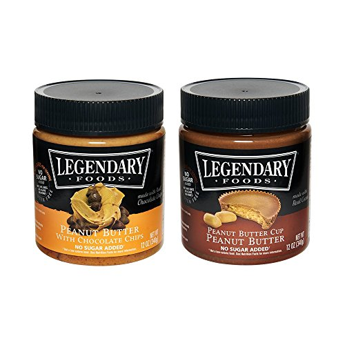 Legendary Foods Nut Butter - Natural Ingredients, Sea Salt, Rich In Protein. Healthy Spread - No Added Sugar or Artificial Flavors - Gluten Free (Variety Pack, 12 oz (Pack of 2)) by Legendary Foods