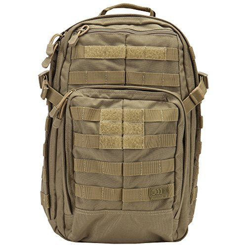 5.11 RUSH12 Tactical Military Assault Molle Backpack, Bug Out Rucksack Bag, Small, Style 56892, Sandstone