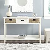 Safavieh American Homes Collection Winifred White Wicker Console Table with Storage Review