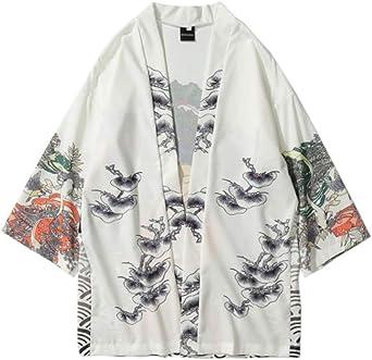 Cárdigan Estilo Kimono Japonesa Manga De 3 para Hombre ...