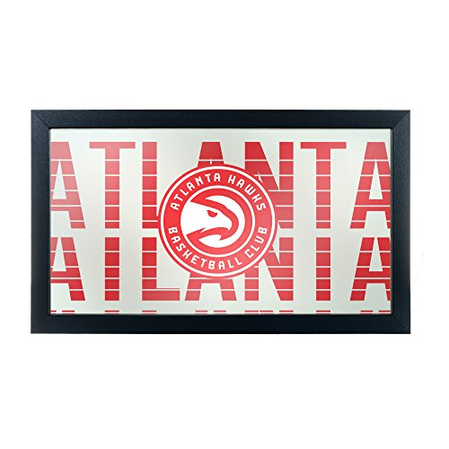 Trademark Gameroom NBA1500-AH3 NBA Framed Logo Mirror - City - Atlanta Hawks by Trademark Global