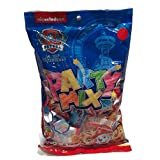 PAW PATROL CANDY PARTY MIX- 20+ ASSORTED INDIVIDUALLY WRAPPED DOG BONE CANDIES, JELLY BEANS & LOLLY POPS - IDEAL FOR BIRTHDAY PARTY FAVOURS, CAKE / CUPCAKE TOPPERS, EVENT CANDY BAGS, STOCKING STUFFERS