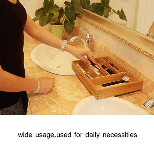 Keyfun Organizers 5-Slot Bamboo Cutlery Drawer Organizer by Keyfun (Image #6)