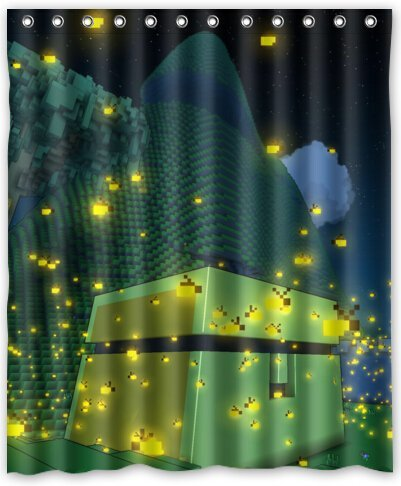 60quotx72quot Inches Beautiful Firefly At Night Shower Curtain New Waterproof Polyester Fabric Bath
