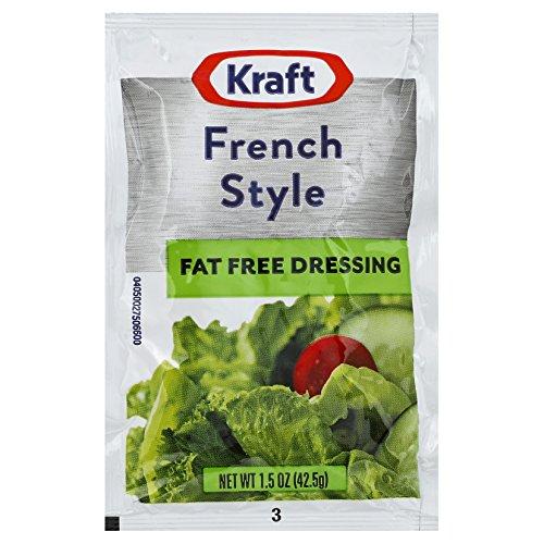 Kraft Fat Free Salad Dressing - Kraft Fat-Free French Salad Dressing, 1.5 oz. Single Serve Packets (Pack of 60)