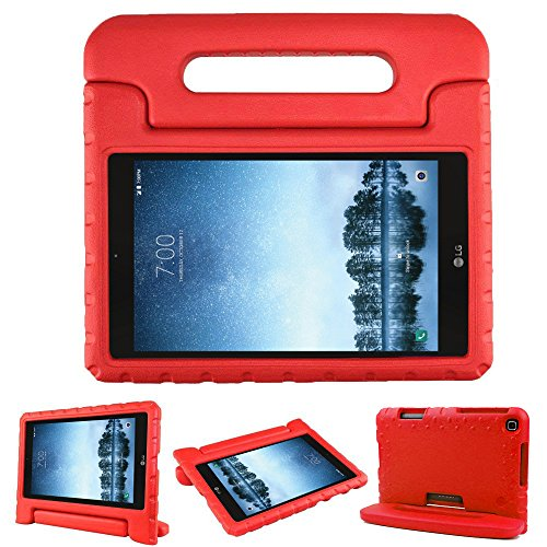 (Bolete Case for LG G Pad F2 8.0 Sprint LK460, Kids Friendly Ultra Light Weight Shock Proof Super Protective Cover Handle Stand Case for LG GPad F2 8.0 Sprint Model LK460 8-Inch Android Tablet, Red)