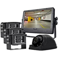 4-Camera Vehicle Surveillance System with 9 LCD Monitor with Internal DVR With 3 Year Extended Warranty