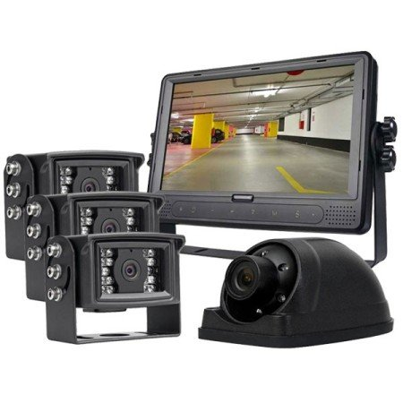 4-Camera Vehicle Surveillance System with 9″ LCD Monitor with Internal DVR With 3 Year Extended Warranty