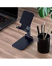 حامل الهاتف المحمول من دكديل - حامل متنقل لسطح المكتب قابل للطي يمكن ضبط زاوية الارتفاع متوافق مع الهاتف المحمول/جهاز اي باد/جهاز التابلت PYDECDEALH32677-BKTSA