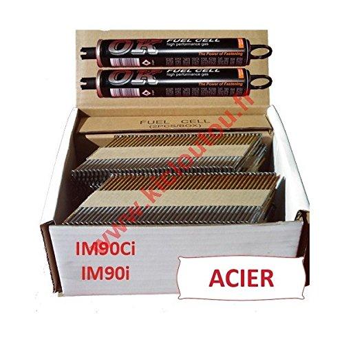 Pack 2000Nägel 3.1x 75, gewellt, Stahl, für Paslode IM90i/IM90Ci, 2000Stück