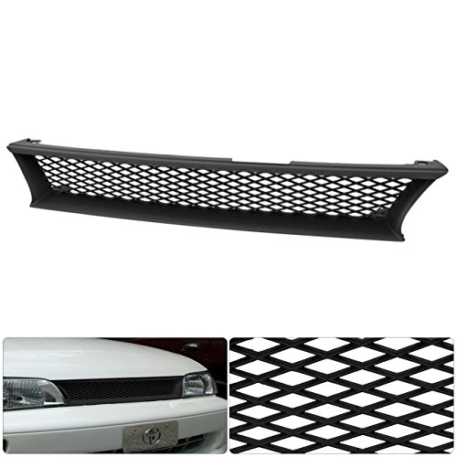 For Toyota Corolla Ae101 Front Bumper Hood Black Mesh Diamond Style Grill Grille Replacement Upgrade