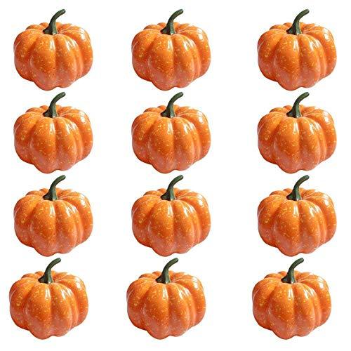 """fightingfly 12Pcs Mini Artificial Pumpkins, 3""""(85mm) Artificial Realistic"""