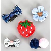 Pretty Hair Decoration Child Cartoon Barrettes Baby Hairball Hairpin Girl Strawberry Hair Clip Set
