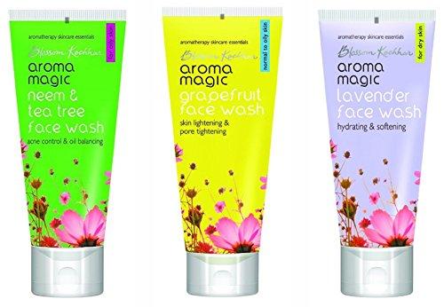 Aroma Magic Combo of Neem  amp; Tea Tree, Grapefruit, Lavender Face Wash  100ml