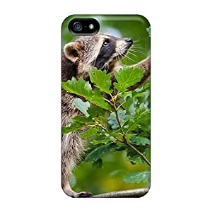 BretPrice Perfect Tpu Case For Iphone 5/5s/ Anti-scratch Protector Case (raccoon In A Tree)