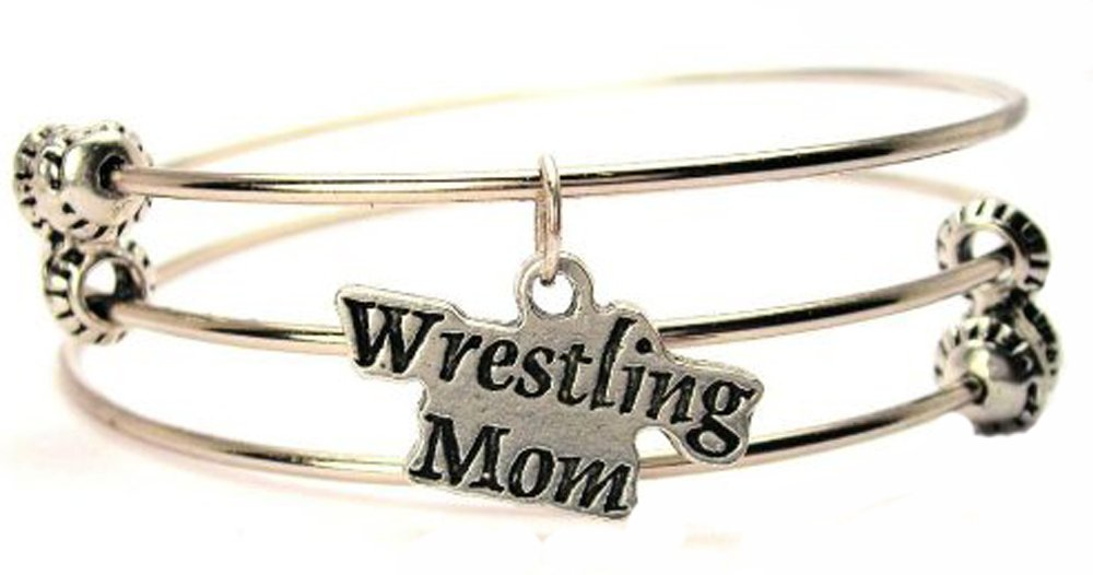 Wrestling Mom Expandable Triple Wire Adjustable Bracelet Made In The USA