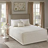 Breanna 4 Piece Tailored Bedspread Set Ivory King/Cal King