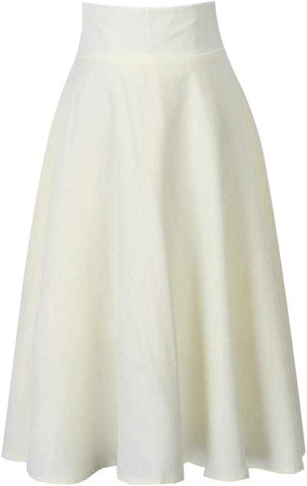 Verano Moda para Color Sólido Plisado Mujer Playa Elegante Retro ...