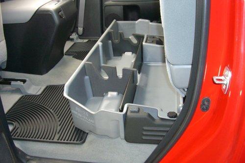 du ha under seat storage fits 07 17 toyota tundra double cab without subwoofer black part 60051. Black Bedroom Furniture Sets. Home Design Ideas