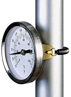 AcuRite 04006 6-Inch Antiqued Brass Finish Thermometer with Bracket