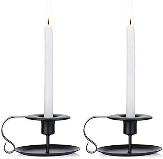 Wrought Iron Taper Candle Holder Iron Candle Holder Dinner Decor 2 Pack