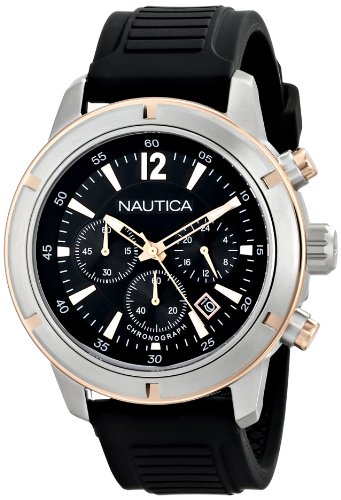 Nautica Men's N17654G Analog Display Quartz Black Watch