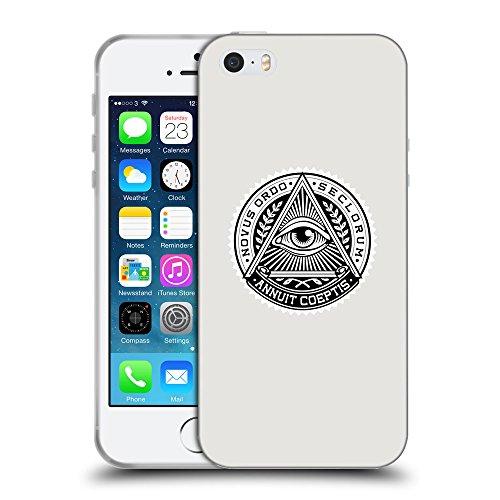 GoGoMobile Coque de Protection TPU Silicone Case pour // Q09020631 Œil Providence 12 Platine // Apple iPhone 5 5S 5G SE