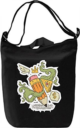 Illuminati pencil Borsa Giornaliera Canvas Canvas Day Bag| 100% Premium Cotton Canvas| DTG Printing|