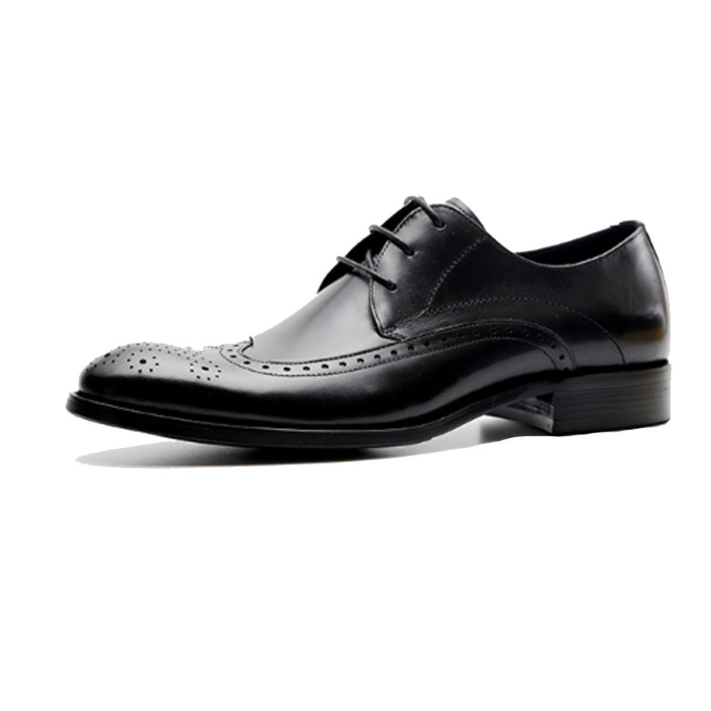 NIUMJ Zapatos De Moda Al Aire Libre Ocasionales Respirables del Verano De La Manera De Los Negocios para Arriba 42 EU Black