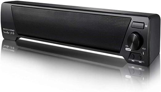 WHCCL Barra de Sonido, Altavoz portátil Bluetooth TV Altavoces duales, Radio FM, para TV, PC, teléfono Celular, proyector de tabletas: Amazon.es: Hogar