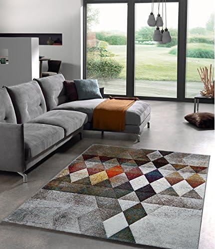 Anka Design Tapis design de salon, moderne, à carreaux ...