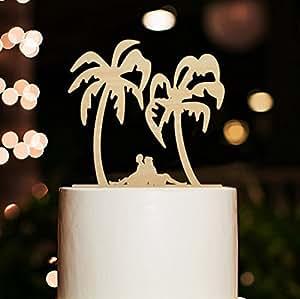 Silhouette Cake Topper Beach Wedding Cake Topper Bride and Groom Cake Topper Funny Cake Topper Rustic Cake Topper Custom Tree Cake Topper¡