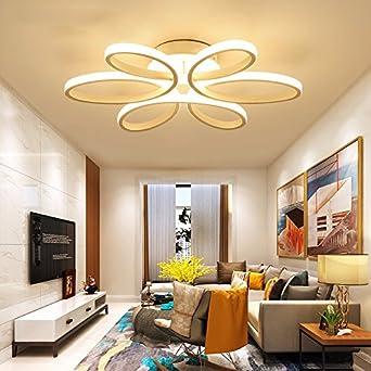 HUANGXINu0026RAN Wohnzimmer Lampe Led Deckenleuchte Kunst Romantik Wärme Schlafzimmer  Beleuchtung Deckenleuchte Mittel 74 CM Weißes Licht