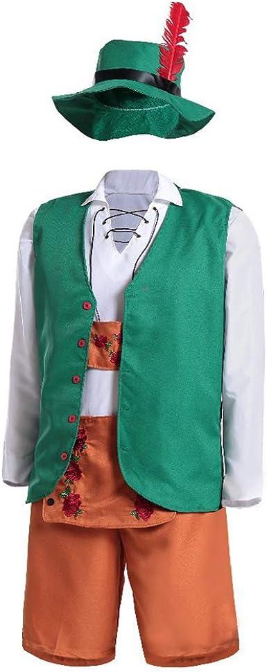 Metermall - Disfraz de Camarera de Cerveza para Hombre y Mujer, Traje de Fiesta de Cerveza para Oktoberfest: Amazon.es: Ropa y accesorios