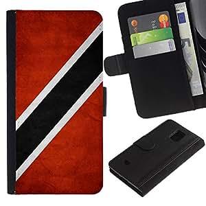 All Phone Most Case / Oferta Especial Cáscara Funda de cuero Monedero Cubierta de proteccion Caso / Wallet Case for Samsung Galaxy S5 Mini, SM-G800 // National Flag Nation Country Trinidad and Tobago