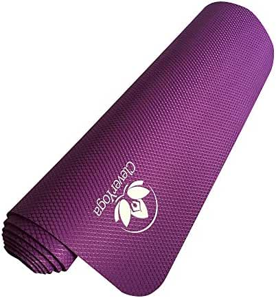 Clever Yoga Premium Natree Mat Eco-Friendly Non-Slip Made with All Natural Recyclable Tree Rubber (3/16 Inch, Multi-color) Comes With Our Special