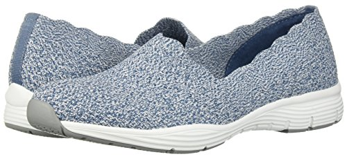 Negro Light Skechers Seager Blue Zapatillas stat at1A0w8q