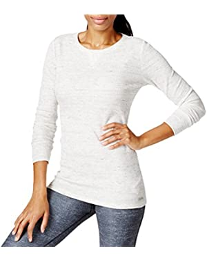 Calvin Klein Womens Thermal Long-Sleeve Top