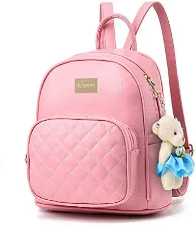 Women Leather Backpack Purse Satchel School Bags Casual Travel Daypacks for  Girls b54ef5a10a