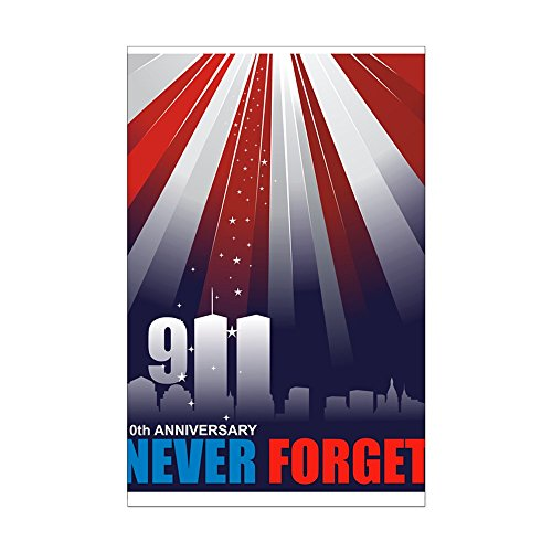CafePress - 911 September 11Th - 10Th Ann - Mini Poster Print - Wtc 911 Flag