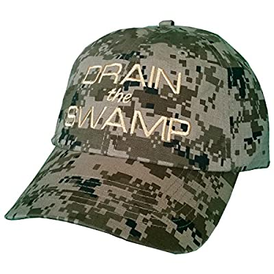 DRAIN THE SWAMP Green Digital Camo Hat TRUMP INAUGURATION Camouflage Cap #DTS