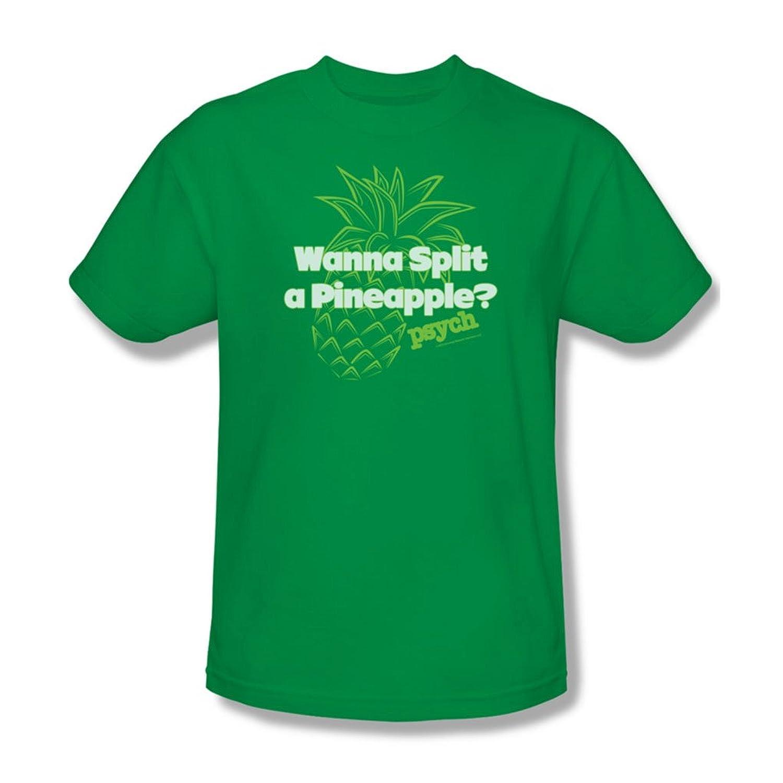 Psych - Mens Pineapple Split T-Shirt In Kelly Green