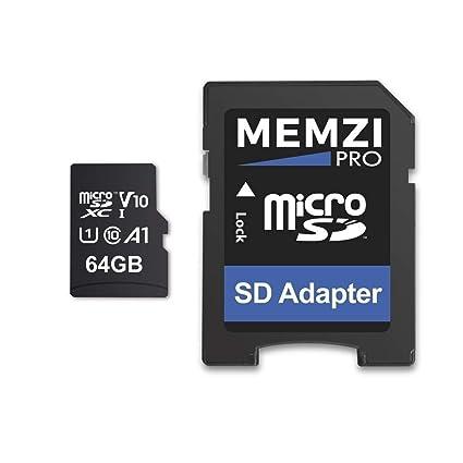 MEMZI Pro 64 GB 100 MB/s V10 Clase 10 Micro SDXC Tarjeta de ...