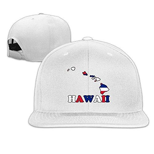- MAGIICAP Adult Trucker Hats, Fashion Hawaii State Flag Map Adjustable Hip Hop Flat Bill Baseball Cap