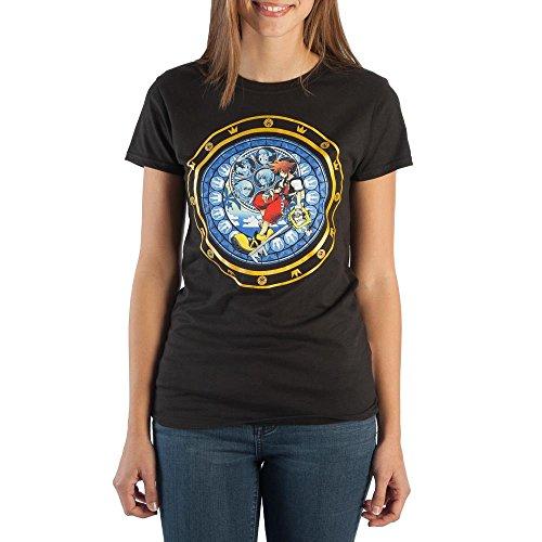 Heart Logo Tee - Kingdom Hearts Logo JRS Juniors Tee Shirt T-Shirt-Large
