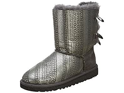 Ugg Bailey Bow Holiday Boots Little Kids Style: 1004797K-GREY Size: 4