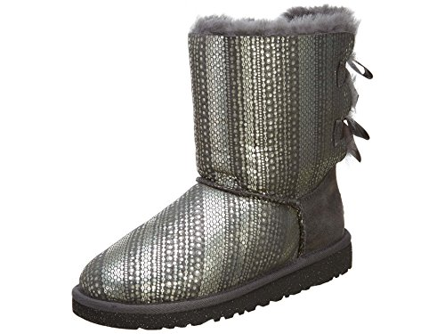 UGG Unisex 1004797K Bailey Bow Holiday Boots Little Kids Style, Grey, 4 ()