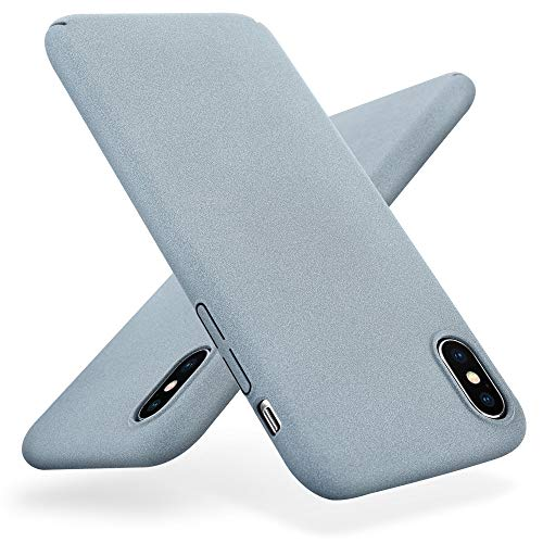iPhone X Case, Xoomz Matte Surface Ultra Slim Cover Hard PC Back Anti-Sweat and Anti-Fingerprints,Frosted Finished for Apple iPhone 10/X Case - Gray